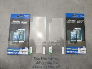 Dán màn hình film iPhone XR (mặt trước hoặc sau)